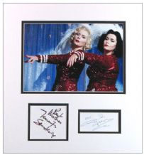 French and Saunders Autograph Signed Display